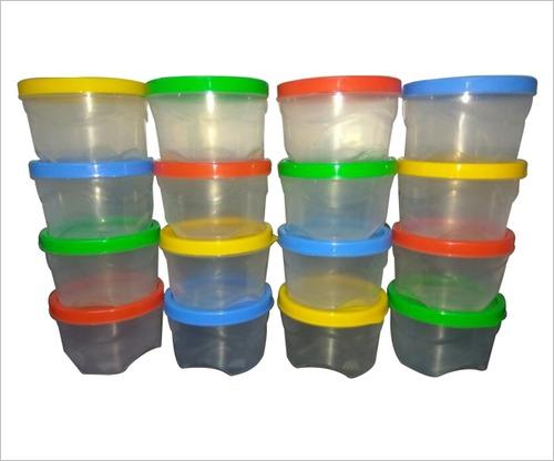 Plastic Houseware Container Circular Shape