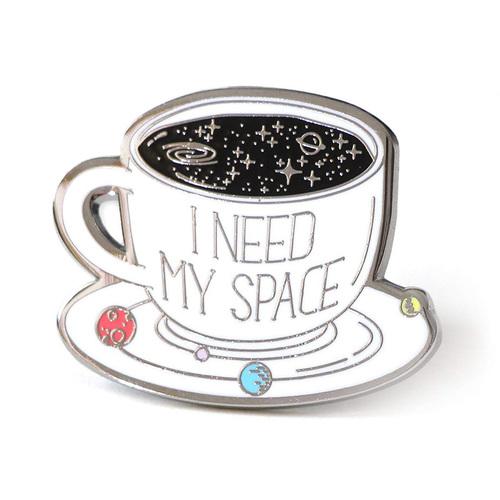 Space Coffee Cup Hard Enamel Lapel Pin