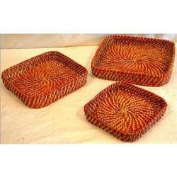 Bamboo Orange Cane Basket