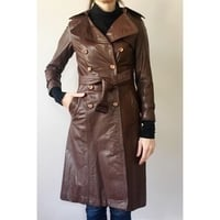 Attractive Designs Leather Trench Coats