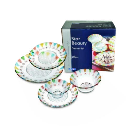 Printed Glass Dinner Set