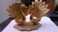 Home Decor Peacock Pair Statue