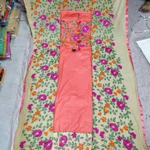 Ladies Fancy Cotton Chanderi Suit
