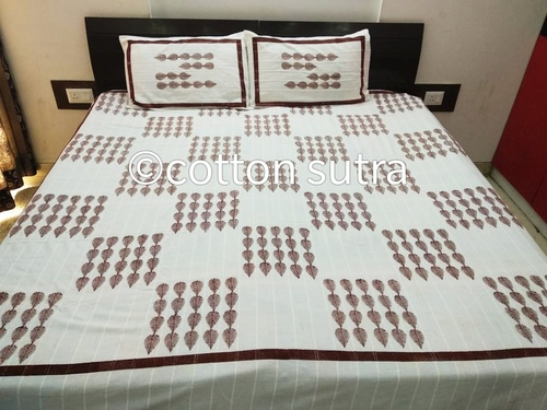 Block Printed Cotton Bed Sheet with Pillow Covers