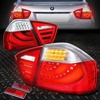 BMW 5 Series E90 3D Look Tail Light Redclear Lance