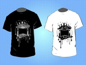 Black and White Colored T Shirts