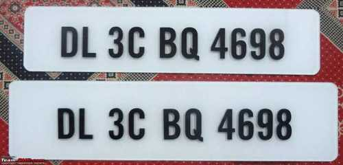 Acrylic Number Plates