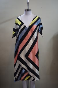 Free Size V-Neck Silk Printed Top