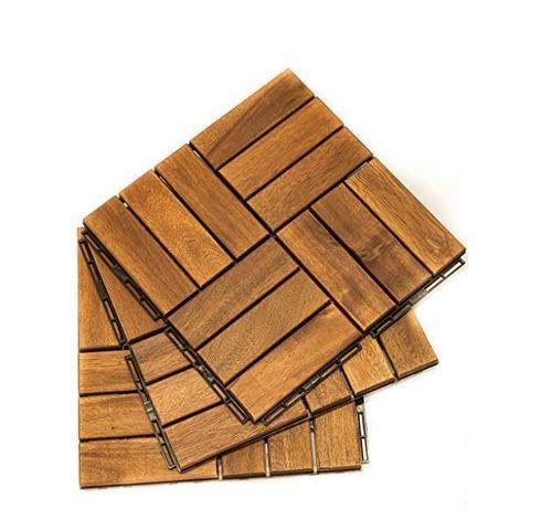 High Quality Teak Wood Deck Tiles