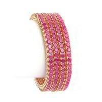 Impeccable Finish Acrylic Stone Bangles