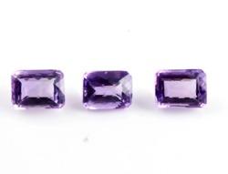 42 Ct. Undrilled 3 Pieces Brilliant Cut Amethyst Cut Stone
