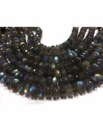 Aaa Labradorite Rondelle Beads