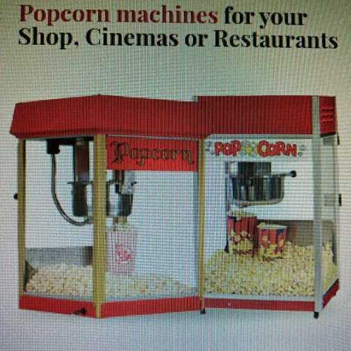 Stainless Steel Popcorn Machine