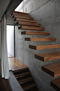 Cantilever Staircase With Out Wooden Cladding