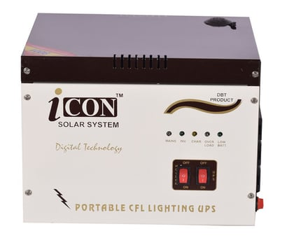 Solar Cfl Ups Double Battery I-700 Back-Up Time: 3 Hours