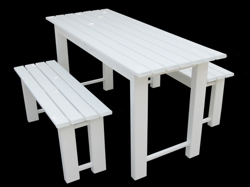 UPVC Outdoor Tablet With Bench
