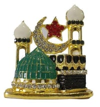 Car Dashboard Muslim Religious Mecca Madina Showpiece