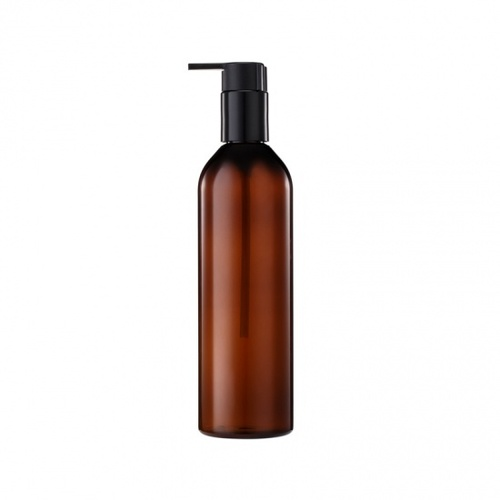 350ML PET Plastic Empty Brown Shampoo Bottle