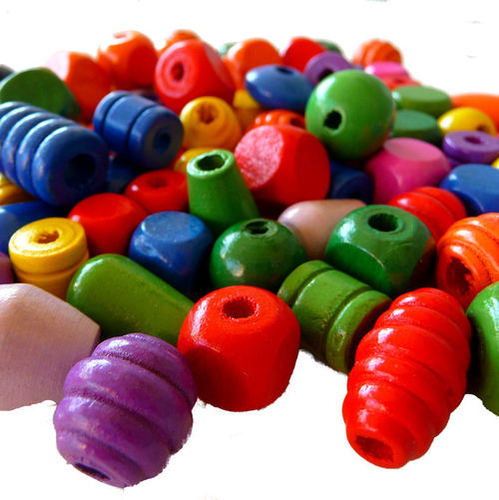 Wood Multi Color Wooden Beads
