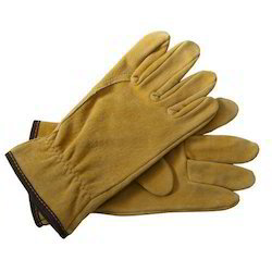 Yellow Color Safety Hand Gloves