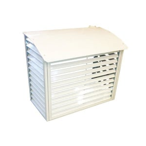 Shutter Design Decorative Outdoor Air Conditioner Cover With Noise Reduction Function
