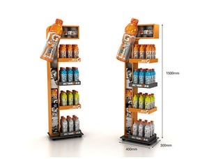 Customized Promotional Metal Floor Display Stand