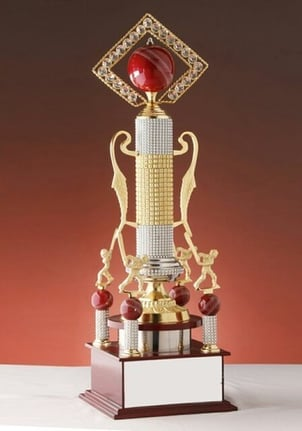 Metal and Wooden Sports Trophy