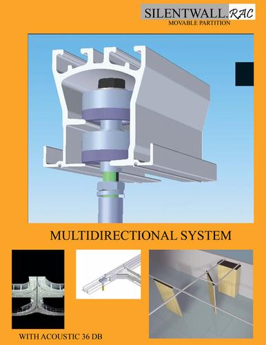 Sliding Folding Movable Wall Components Partition Capacity: 300 Kilogram(Kg)