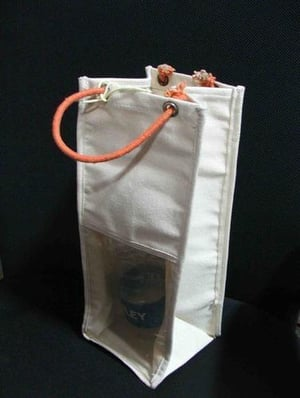 Recycled Organic Cotton Wine Bottle Case