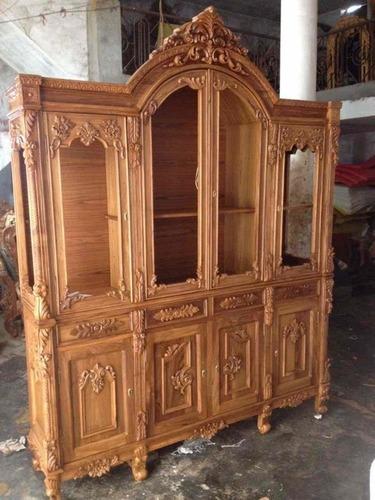 Teak Wood Crockery Almirah At Best Price In Saharanpur