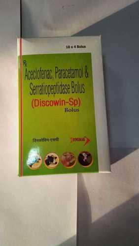 Aceclofenac + Paracetamol + Serratiopeptidase BOLUS