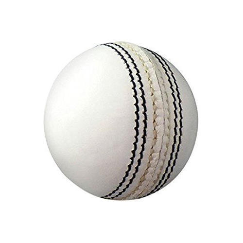 White Leather Cricket Ball
