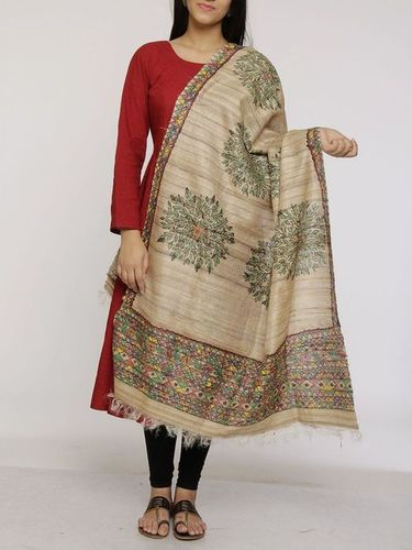 Handloom Tassar Silk Scarves