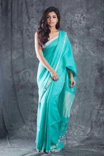 Handloom Woven Linen Saree