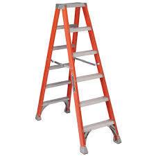 Fiberglass Twin Step Ladder 6 Ft