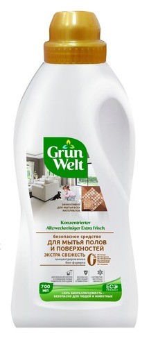 Grunwelt Safe Cleaner For Floors and Surfaces Extra Fresh - 700 ml