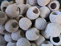305 Super White Glaced Cotton Yarn Ball
