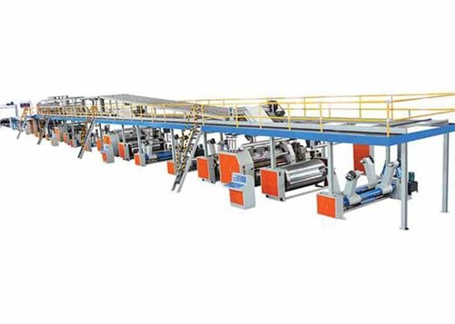 Steam Heating 3 Ply Corrugated Cardboard Production Line