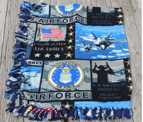 Air Force Design Printed Blanket