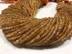 Citrine Micro Faceted Rondelle (13 Inch)