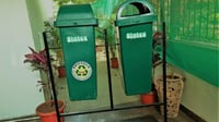 2 Waste Bin With Stand