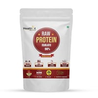 Healthfit Raw Whey Protein Isolate Powder 90% - 2lbs, 907g -30 Servings (Unflavored)