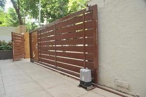Maintenance Free Remote Controlled Gate