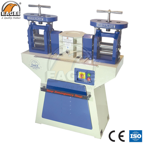 Jewellery Making Machinery Double Head Rolling Mill Premium Quality with Emergency Break