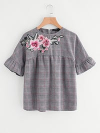 Ladies Embroidered Cotton Tops