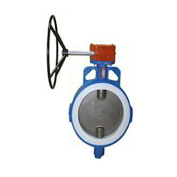 Ptfe Gear Operated Butterfly Valve In Ci. Cs And Ss Body