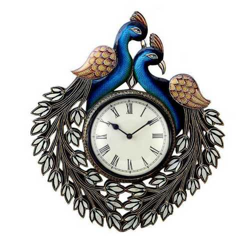Designer Peacock Wall Clock