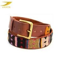 Mens Beaded Leather Belts