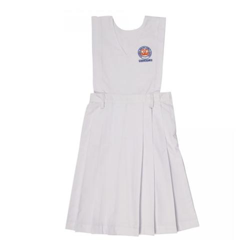 Box Pleats White Pinafore Uniforms