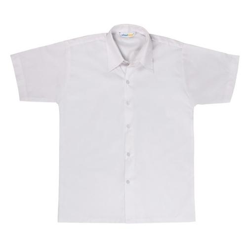 Half Sleeves Cotton White School Shirt